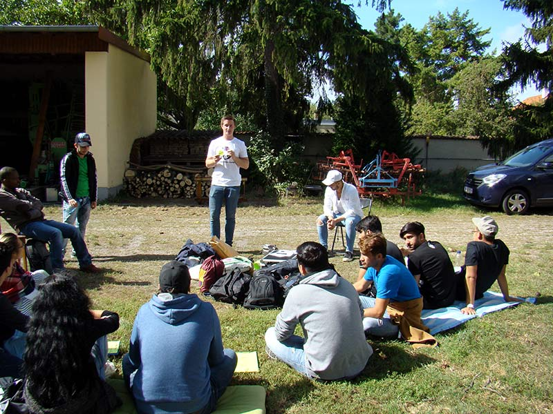 Workshop about conventional and organic farming