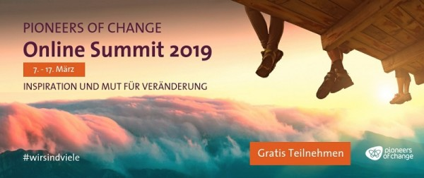 Pioneers of change: Be part of the online summit 2019
